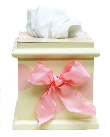 Pink Polka Dot Tissue Box