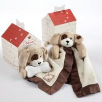 Patches Puppy Plush Lovie Gift Dogbox Set