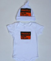 Fragile Hat and Onesie Set