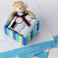 Honey Bear Sweet Baby Boy Set