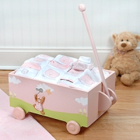 Welcome to the World Pink Gift Wagon