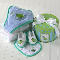 Finley the Frog Bath Set