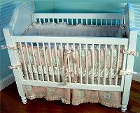 Cherub Toile 4pc Crib bedding
