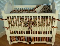 Retro Dots 4pc Crib Bedding