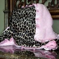 Pink Giraffe Blanket