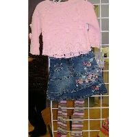 DPD Sweater and Denim Skirt Set