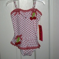 Kate Mack Cherry Skirted One Piece