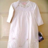 Biscotti Ivory Layette Gown