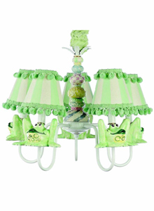 Green Froggy Chandelier