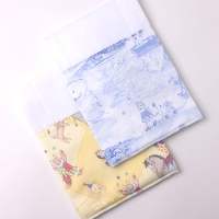 Burp Cloth Pair Circus and Blue Playground Toile