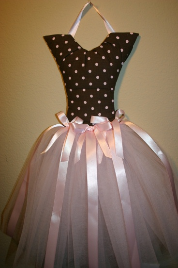 Pink Dot Ballerina Bow Holder
