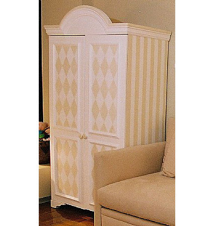 Harlequin Stripes Armoire