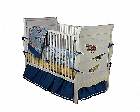 Vintage Airplane Crib