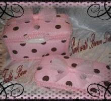 Pink with Brown Dot Gift Set