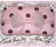 Pink with Brown Dots Case