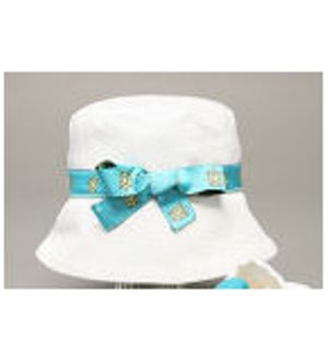 White Hat w/ Turtle Ribbon