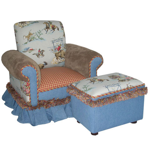 Child's Club Chair Buckaroo Blue