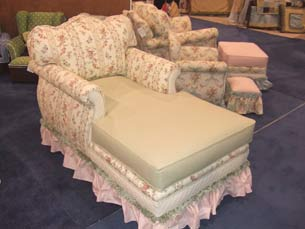 Adult Empire Chaise Lounge English Bouquet