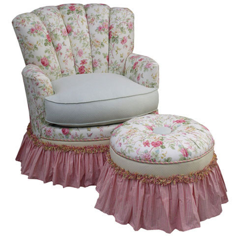 Adult Princess Rocker Glider English Bouquet