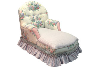 Child's Queen Anne Chaise Lounge Full Bloom