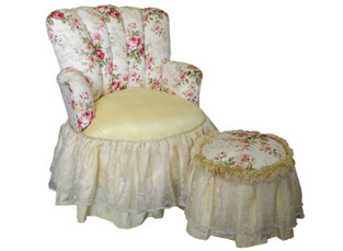 Child's Princess Chair Rose Garden