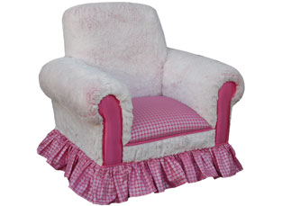 Child's Club Chair Snow Bunny