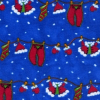 Blue Clothesline Santa Gown