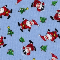 Blue Santas Pajamas