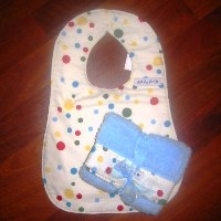 Baby Star Blue Wonder Bib/Burp set