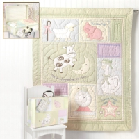 Nursery Rhymes Embroidered Quilt