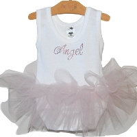 Angel Tutu poof Onesie