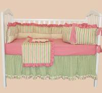 Sleepy Stripes 4pc Crib Bedding