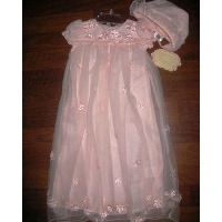 Biscotti Pink Gown with Bonnet