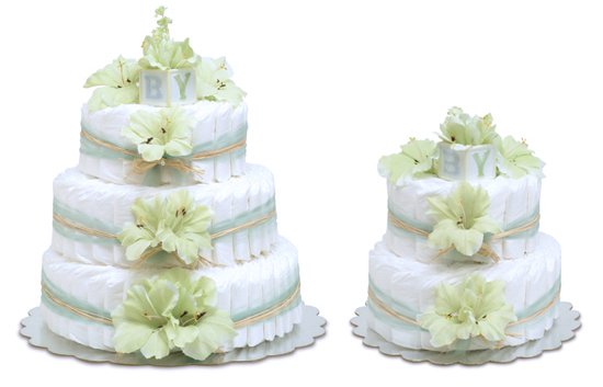 Mint Green Gladiolas Cake