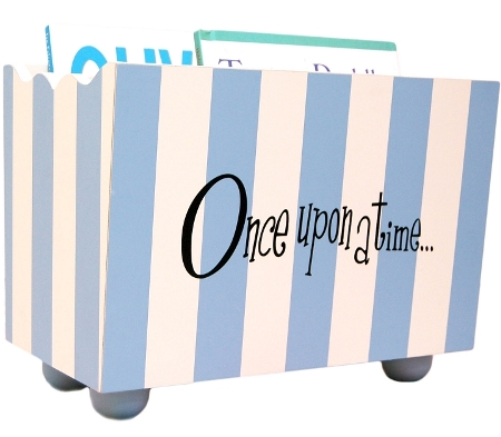 Blue Stripe Wooden Book Holder