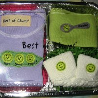 Eat Your Peas Outfit and Gift Set