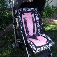 Stroller Liner Pink Damask