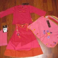 Catimini Poncho Dress Set