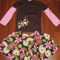 Chatti Patti Blossom Tee and Flounce Skirt