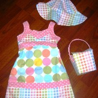 Pastel Dot Bettie Dress Set