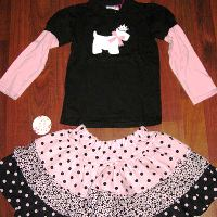 Chatti Patti Tee and Flounce Skirt Poshy Dot