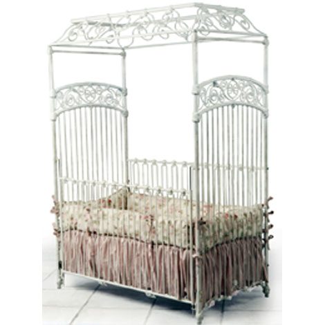 Paris Canopy Iron Crib