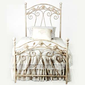 Floral Iron Bed