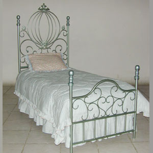 Iron Scrolled Bed