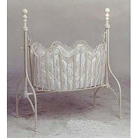 Antique white Iron Cradle