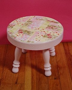 shabby chic stool. Black Bedroom Furniture Sets. Home Design Ideas