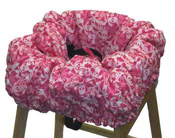 Pink Pirate Skulls Cart Cover