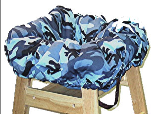 Blue Camo Cart Cover