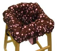 Chocolate w/ Pink Dots/Minky Car Seat Cover