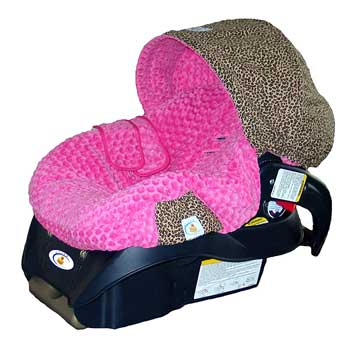 Leopard Minky Car Seat Cover